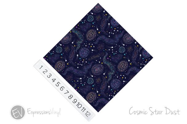 """12""""x12"""" Patterned Heat Transfer Vinyl - Cosmic Star Dust"""