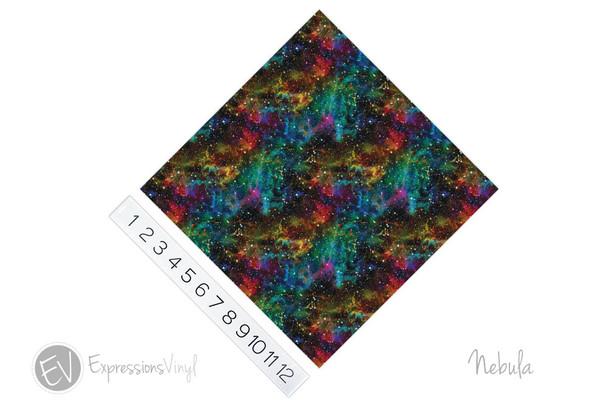 """12""""x12"""" Patterned Heat Transfer Vinyl - Nebula"""