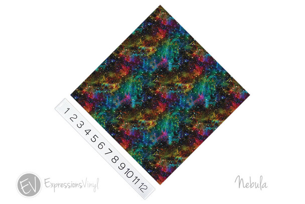 "12""x12"" Permanent Patterned Vinyl - Nebula"
