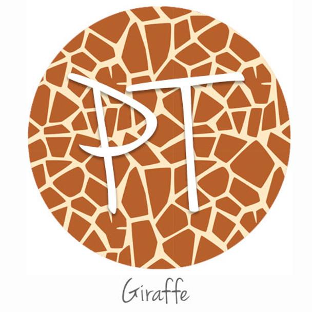 """12""""x12"""" Patterned Heat Transfer Vinyl - Giraffe"""