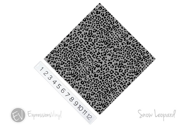 "12""x12"" Patterned Heat Transfer Vinyl - Snow Leopard"