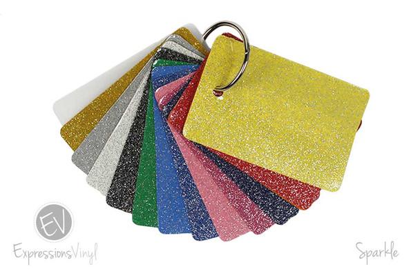 Sparkle Heat Transfer Vinyl - Color Sample Kit