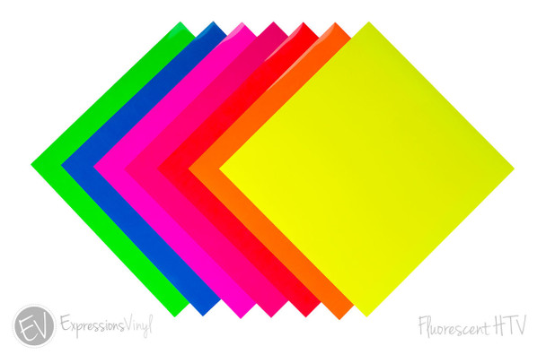"""Fluorescent EasyWeed 12""""X24"""" Heat Transfer Sheets"""