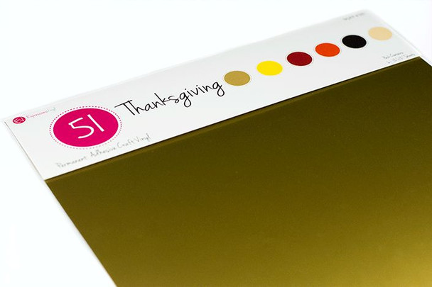 Thanksgiving Pack - Series 51 Permanent Vinyl