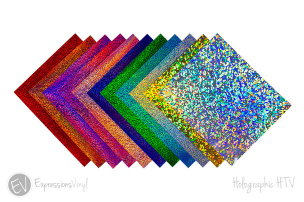 "Holographic Heat Transfer Vinyl Collection 9""x12"""