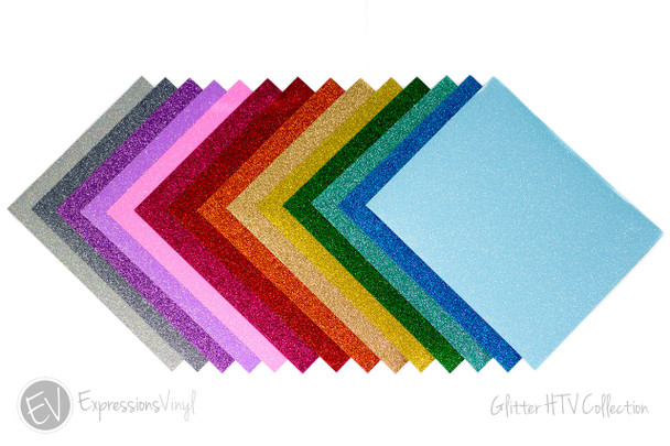 "Glitter Heat Transfer Vinyl Collection 9""x12"""