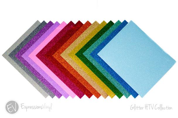 "Glitter Heat Transfer Vinyl Collection 9""x12"""