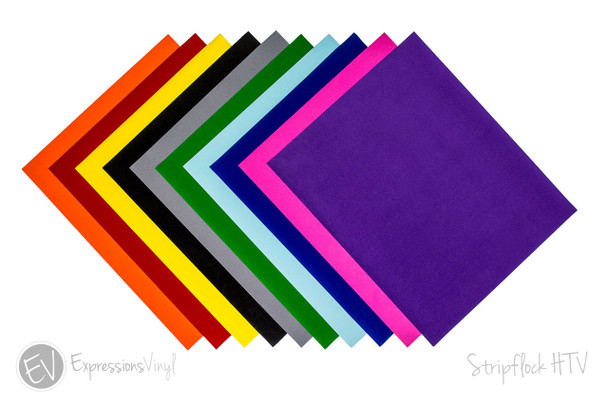 "Stripflock Heat Transfer Vinyl Collection 12""x15"""