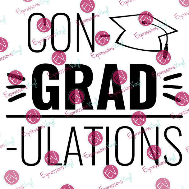 Con-Grad-Ulation Digital Cut File