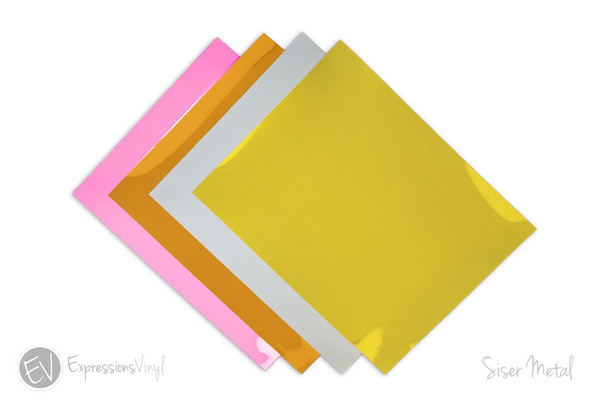 "Siser Metal 12""x20"" Heat Transfer Vinyl Sheets"