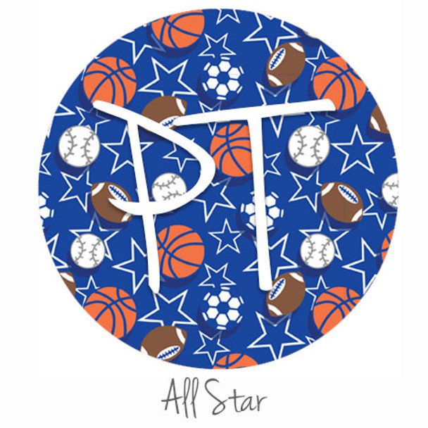 """12""""x12"""" Permanent Patterned Vinyl - All Star Color Swatch"""