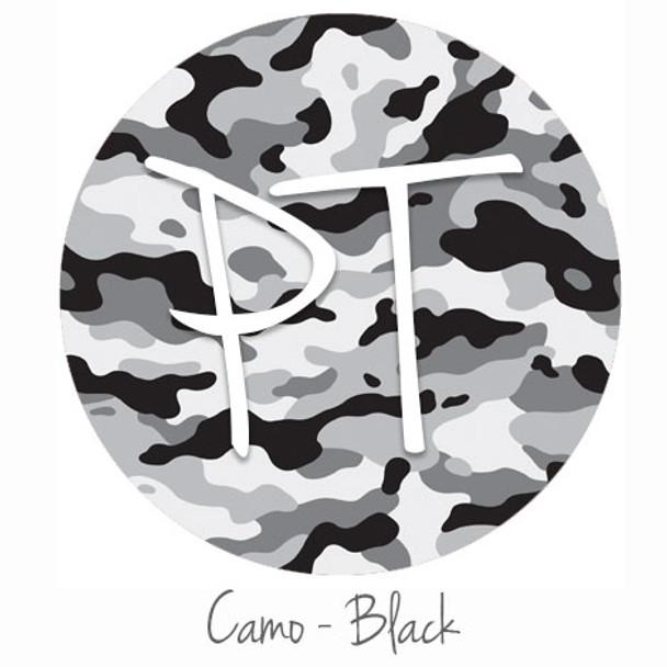 "12""x12"" Permanent Patterned Vinyl - Camo Black"