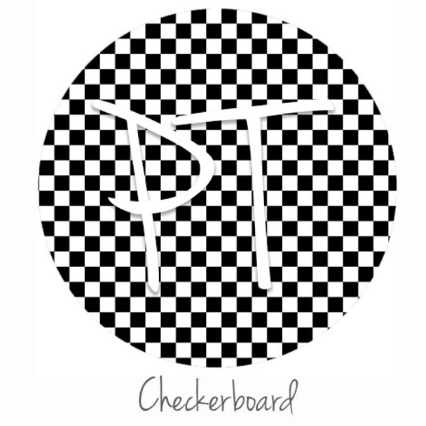 """12""""x12"""" Permanent Patterned Vinyl - Checkerboard"""