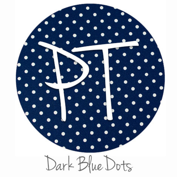 "12""x12"" Permanent Patterned Vinyl - Dots - Dark Blue"