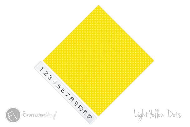 "12""x12"" Permanent Patterned Vinyl - Dots - Light Yellow"