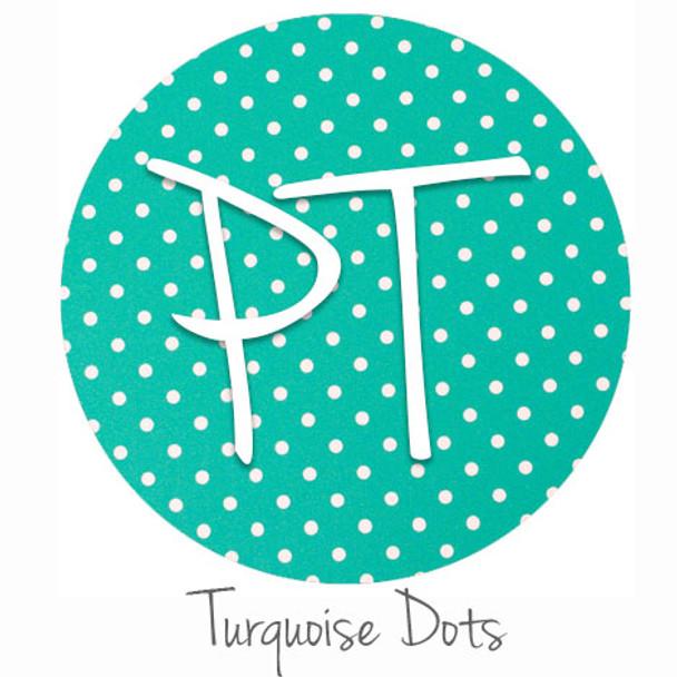 "12""x12"" Permanent Patterned Vinyl - Dots - Turquoise"