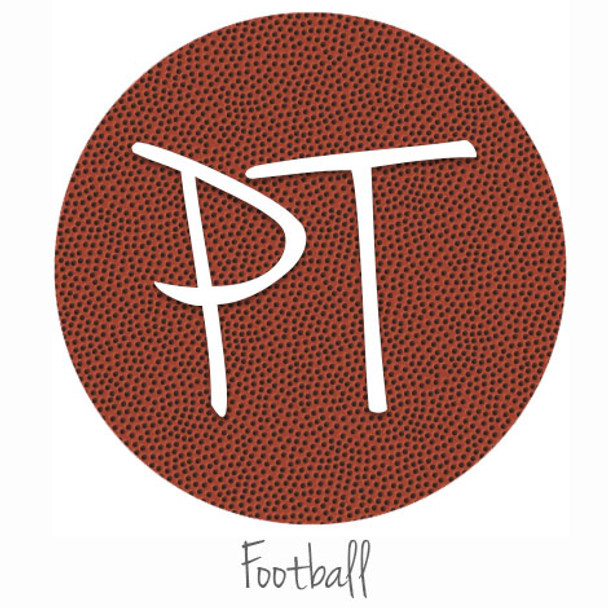 "12""x12"" Permanent Patterned Vinyl - Football"