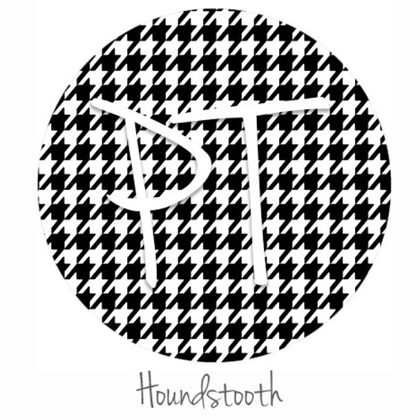 """12""""x12"""" Permanent Patterned Vinyl - Houndstooth"""