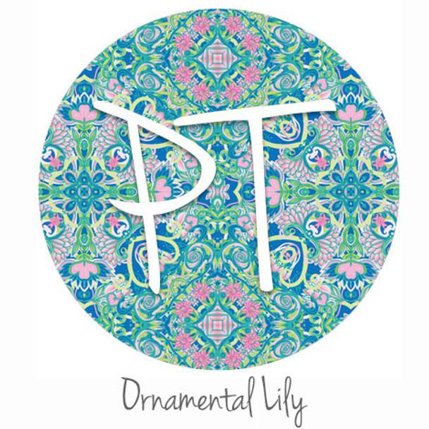 "12""x12"" Permanent Patterned Vinyl - Ornamental Lily"