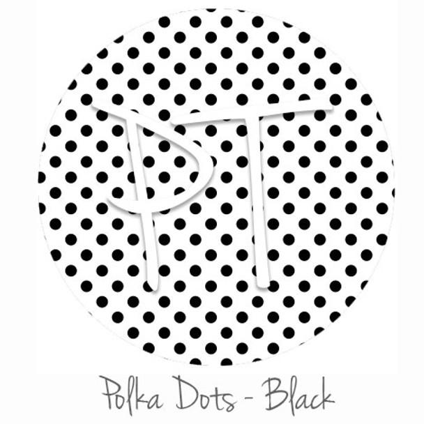 "12""x12"" Permanent Patterned Vinyl - Polka Dots Black"