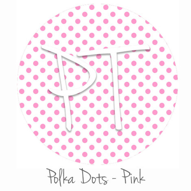 "12""x12"" Permanent Patterned Vinyl - Polka Dots Pink"