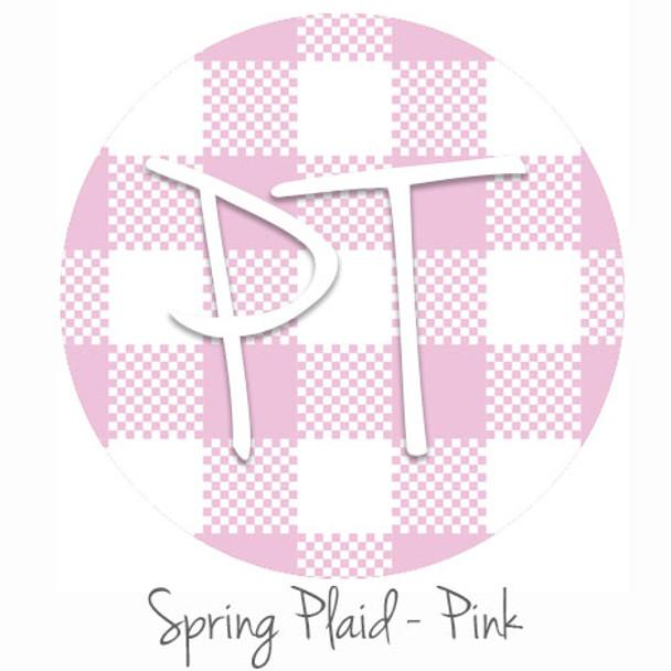"12""x12"" Permanent Patterned Vinyl - Spring Plaid - Pink"