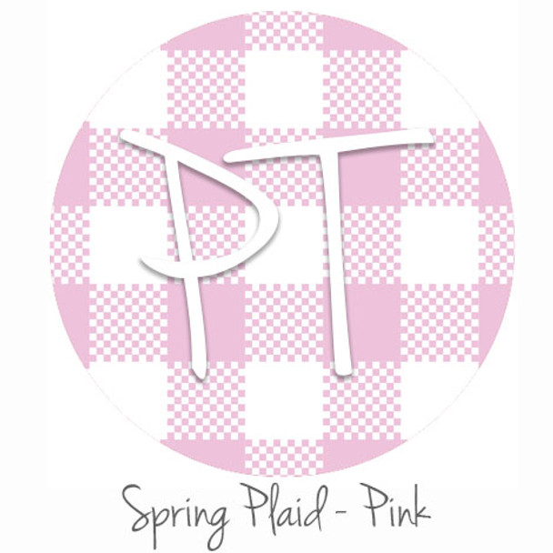 "12""x12"" Permanent Patterned Vinyl - Spring Plaid - Pink"