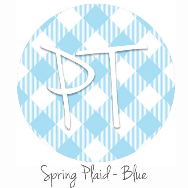 "12""x12"" Permanent Patterned Vinyl - Spring Plaid - Blue"