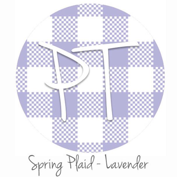 "12""x12"" Permanent Patterned Vinyl - Spring Plaid - Lavender"