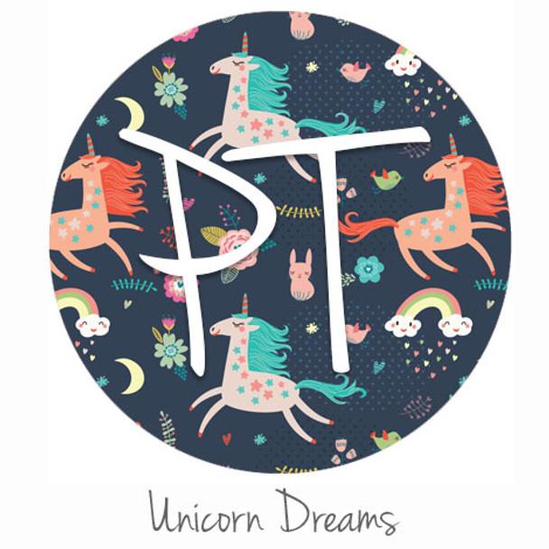 "12""x12"" Permanent Patterned Vinyl - Unicorn Dreams"