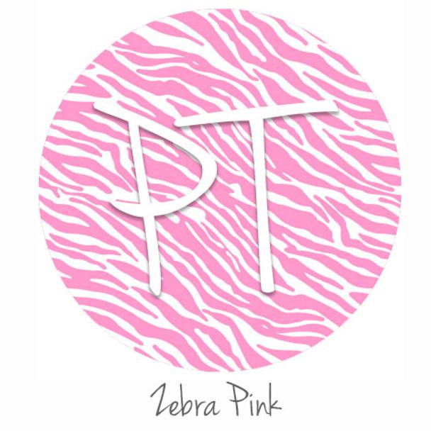 "12""x12"" Permanent Patterned Vinyl - Zebra - Pink"