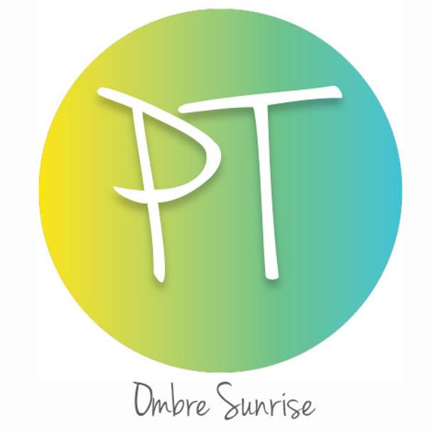"12""x12"" Patterned Heat Transfer Vinyl - Ombre Sunrise"