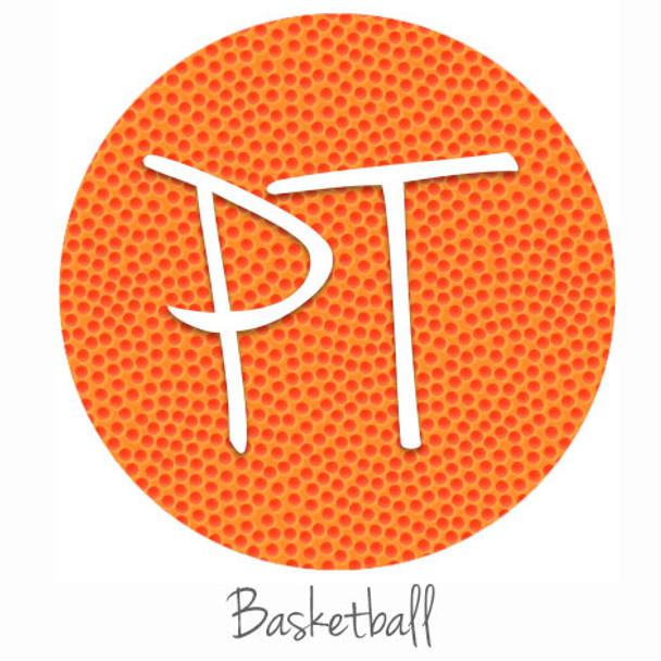 "12""x12"" Patterned Heat Transfer Vinyl - Basketball"