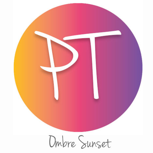"12""x12"" Patterned Heat Transfer Vinyl - Ombre Sunset"