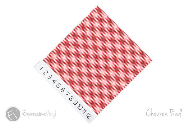 "12""x12"" Patterned Heat Transfer Vinyl - Chevron Red"