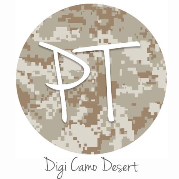 "12""x12"" Patterned Heat Transfer Vinyl - Digi Camo Desert"