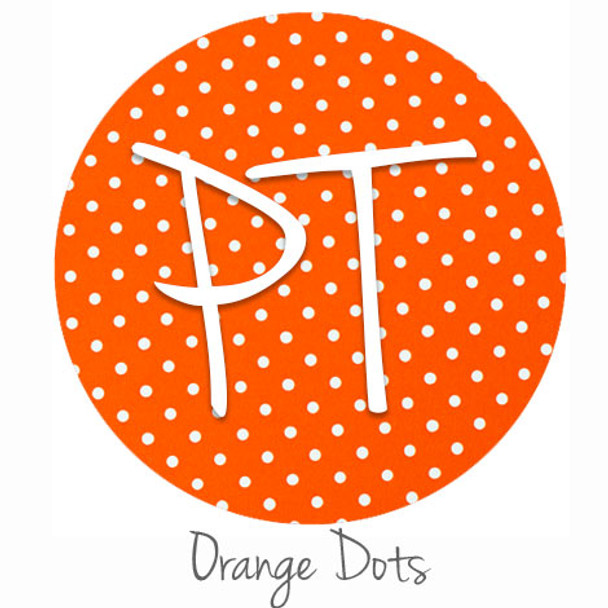 "12""x12"" Patterned Heat Transfer Vinyl - Dots - Orange"