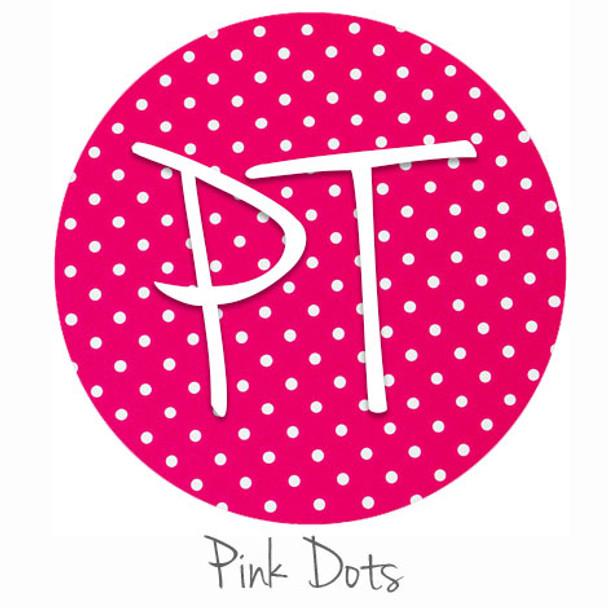 "12""x12"" Patterned Heat Transfer Vinyl - Dots - Pink"