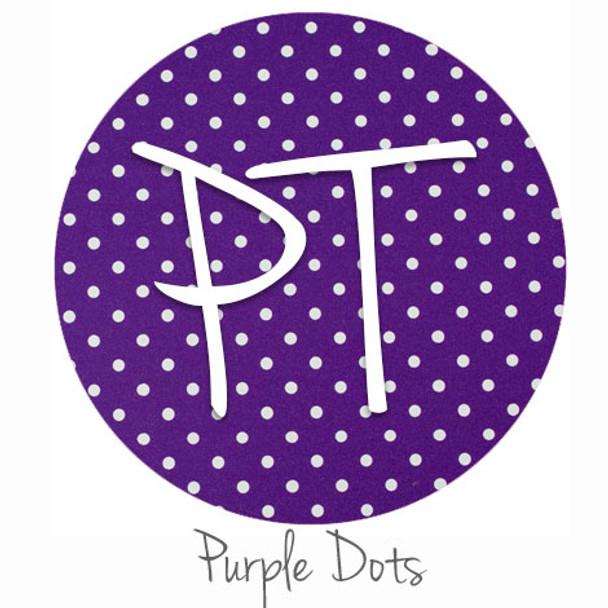 """12""""x12"""" Patterned Heat Transfer Vinyl - Dots - Purple"""