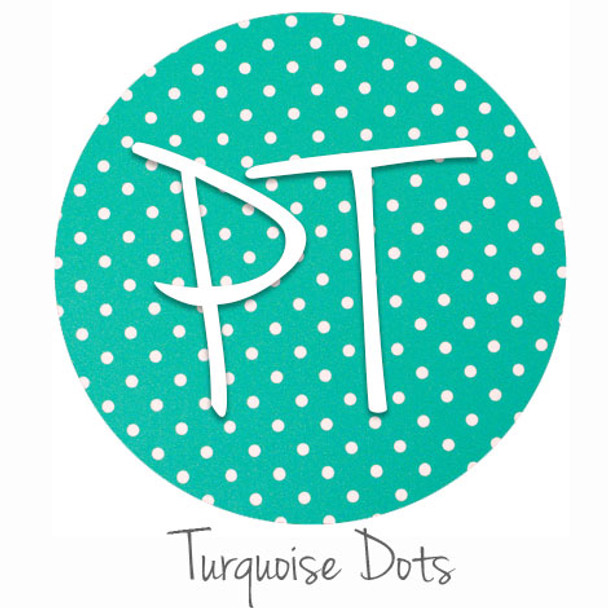 """12""""x12"""" Patterned Heat Transfer Vinyl - Dots - Turquoise"""