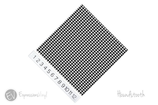 "12""x12"" Patterned Heat Transfer Vinyl - Houndstooth"