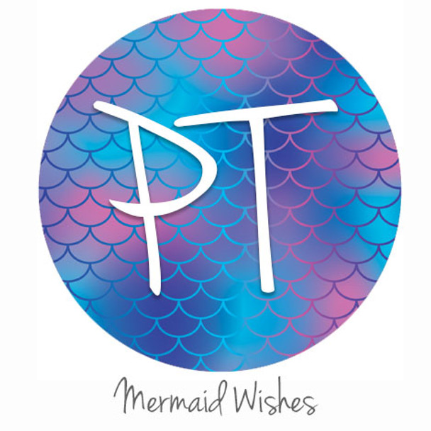 "12""x12"" Patterned Heat Transfer Vinyl - Mermaid Wishes"