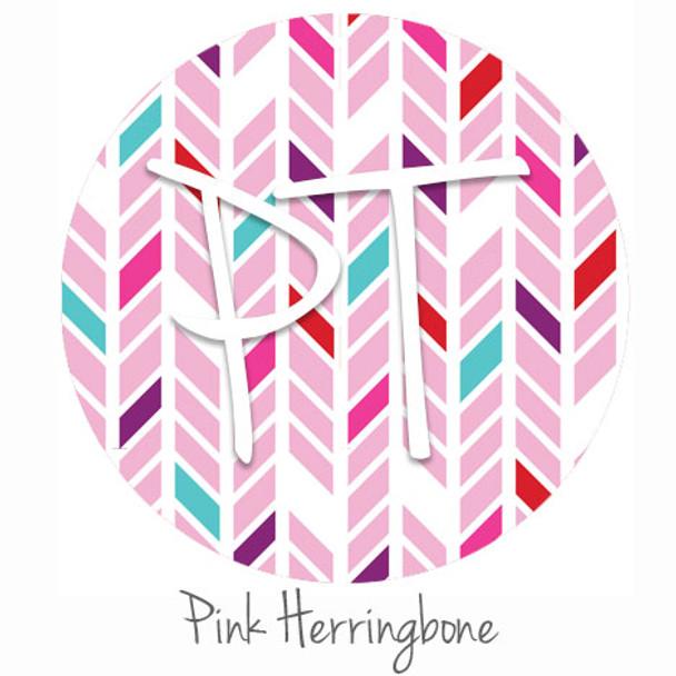 "12""x12"" Patterned Heat Transfer Vinyl - Pink Herringbone"