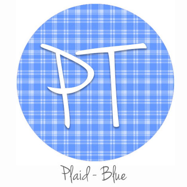 "12""x12"" Patterned Heat Transfer Vinyl - Plaid Blue"
