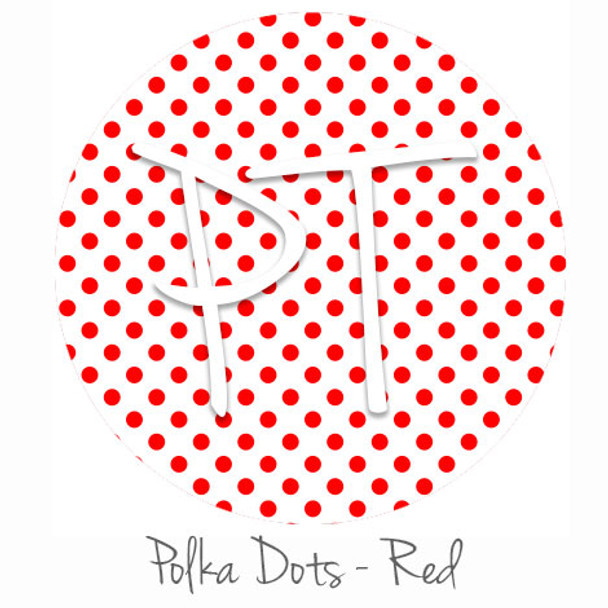 "12""x12"" Patterned Heat Transfer Vinyl - Polka Dots Red"