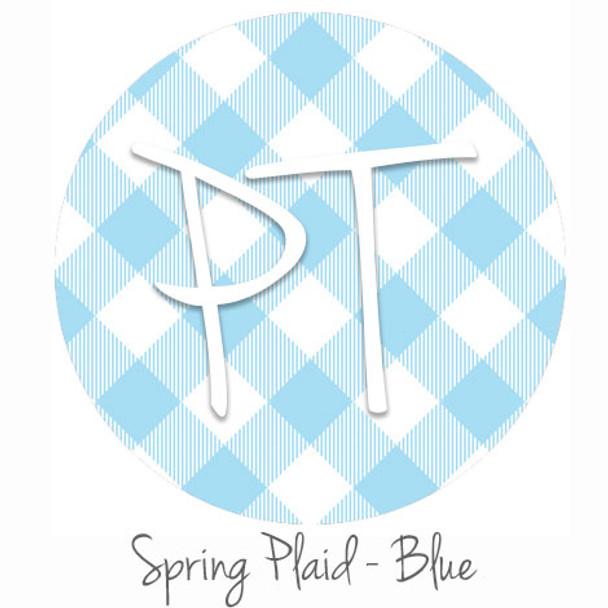 "12""x12"" Patterned Heat Transfer Vinyl - Spring Plaid - Blue"