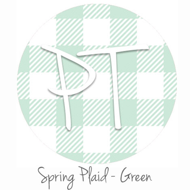 "12""x12"" Patterned Heat Transfer Vinyl - Spring Plaid - Green"