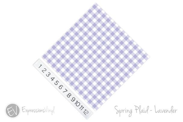 "12""x12"" Patterned Heat Transfer Vinyl - Spring Plaid - Lavender"