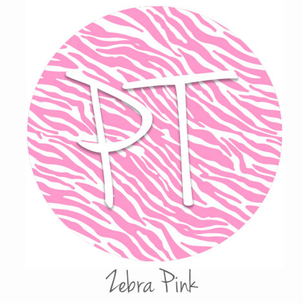 "12""x12"" Patterned Heat Transfer Vinyl - Zebra - Pink"
