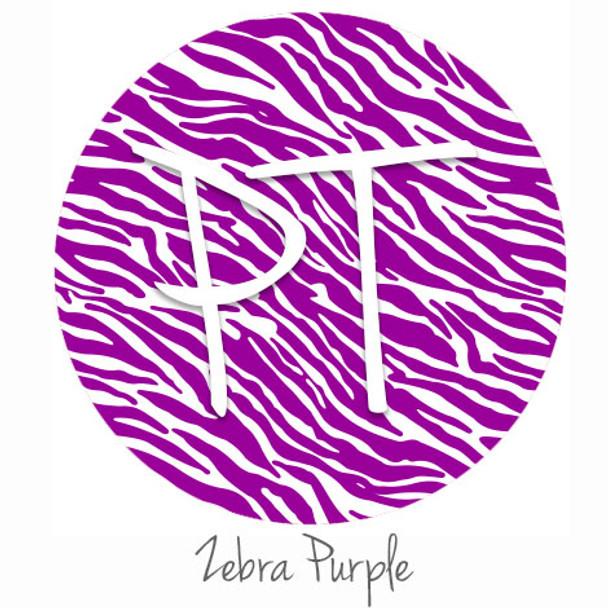 """12""""x12"""" Patterned Heat Transfer Vinyl - Zebra - Purple"""